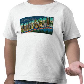 Berkeley, California - Large Letter Scenes T-shirt