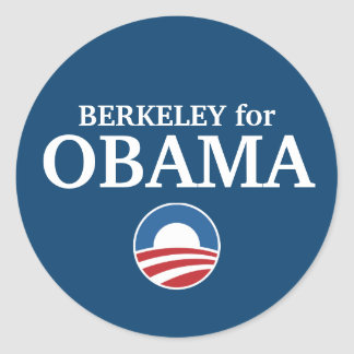 BERKELEY for Obama custom your city personalized Round Sticker