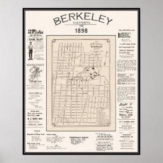 Berkeley Map 1898 Poster