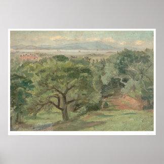 Berkeley overlooking U. of California (0138B) Poster