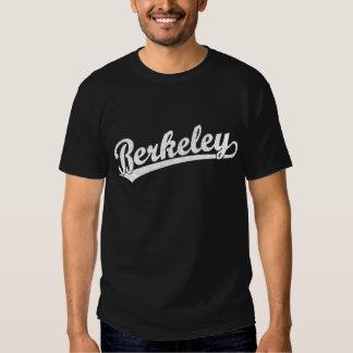 Berkeley script logo in white shirt