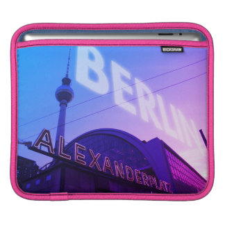 Berlin Alex station with TV Tower 001.F.001 iPad Sleeve