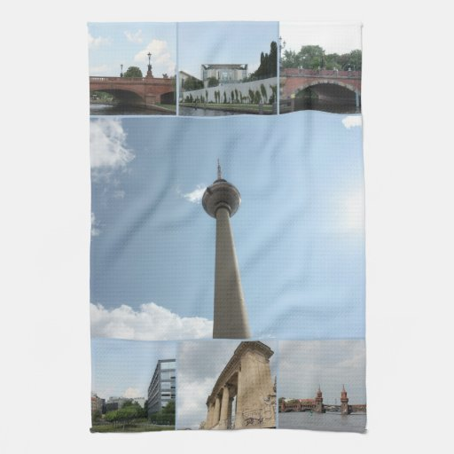 Berlin Architecture Photo Collage Towels