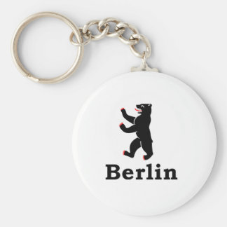 Berlin Bear Basic Round Button Key Ring