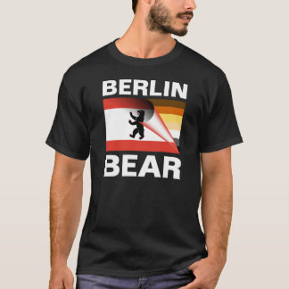 Berlin Bear White Text Pride Flag White Claw Back T-Shirt