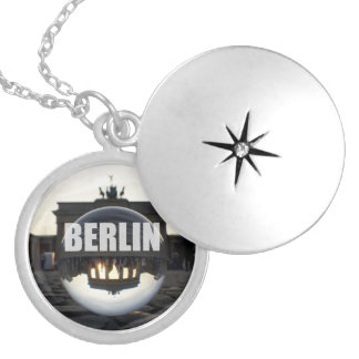 BERLIN Brandenburg Gate sunset, crystal ball Pendant