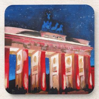 Berlin Brandenburg Gate With Paris Place At Nigh Beverage Coasters