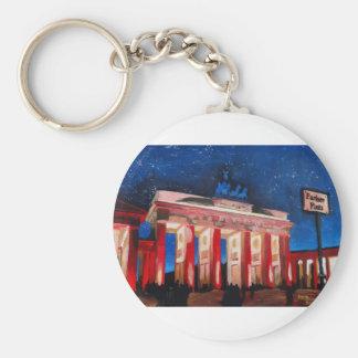 Berlin Brandenburg Gate With Paris Place At Nigh Keychains
