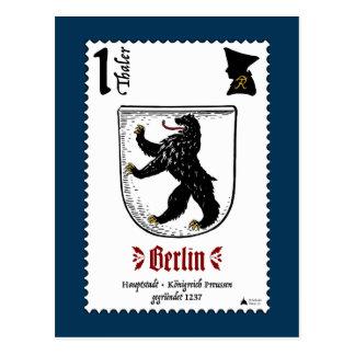 Berlin Briefmarke Postcard by Pickelhaube Design