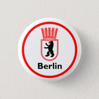 Berlin city arms (GDR) 3 Cm Round Badge