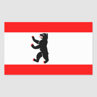 Berlin City Flag Rectangular Sticker