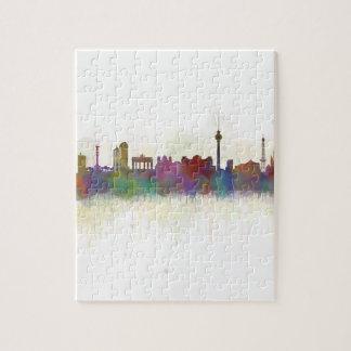 Berlin City Germany. Deutsche Skyline art v2 Jigsaw Puzzle