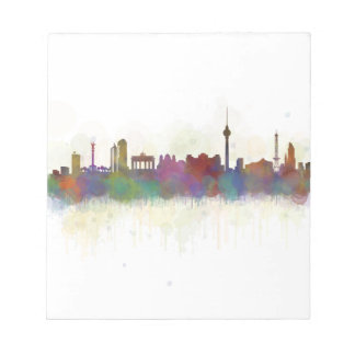 Berlin City Germany. Deutsche Skyline art v2 Notepad