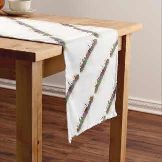 Berlin City Germany. Deutsche Skyline art v2 Short Table Runner