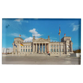 Berlin city Germany Reichstag building landmark ar Place Card Holder