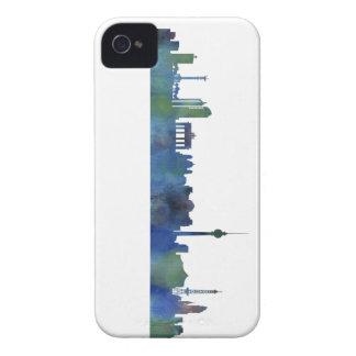 Berlin City Germany watercolor Skyline art iPhone 4 Case-Mate Case