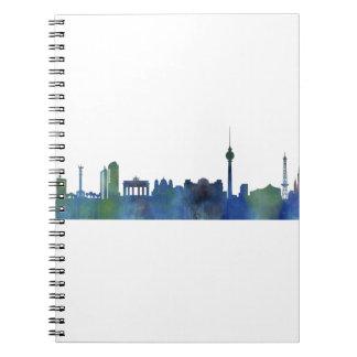 Berlin City Germany watercolor Skyline art Notebooks