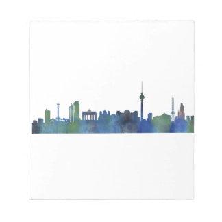 Berlin City Germany watercolor Skyline art Notepad