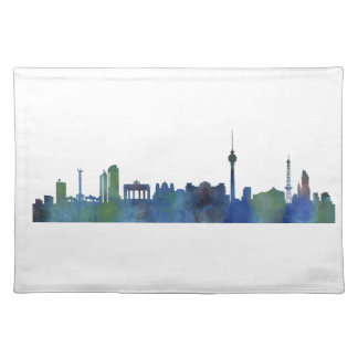 Berlin City Germany watercolor Skyline art Placemat