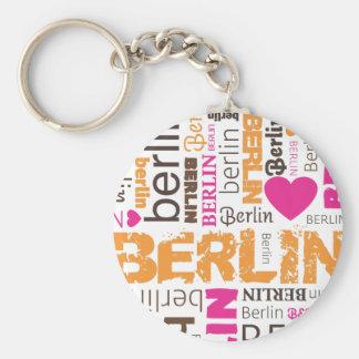 Berlin german typography key chain