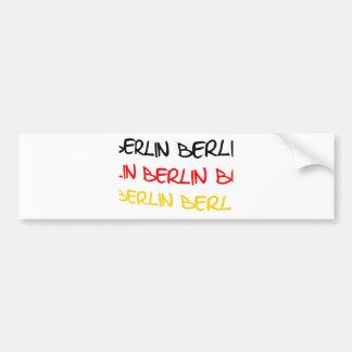 Berlin, Germany Logo Souvenir Bumper Stickers