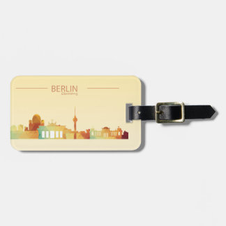Berlin,Germany Luggage Tag w/ leather strap