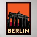 berlin germany oktoberfest art deco retro travel print