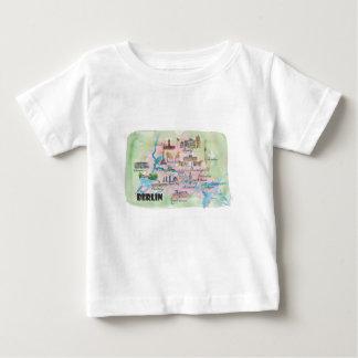 Berlin Germany Retro Vintage Map Baby T-Shirt