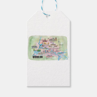 Berlin Germany Retro Vintage Map Gift Tags