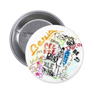 Berlin Graffiti Girl Pin
