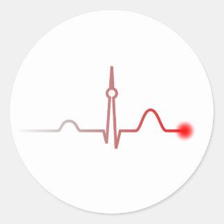 Berlin Heartbeat Classic Round Sticker