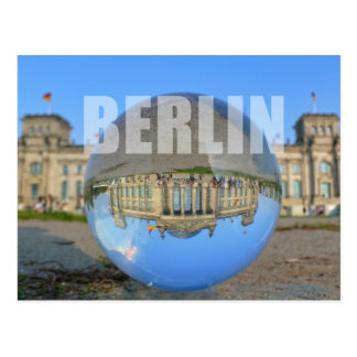 BERLIN - lakes through the crystal ball, Reichstag Postcard