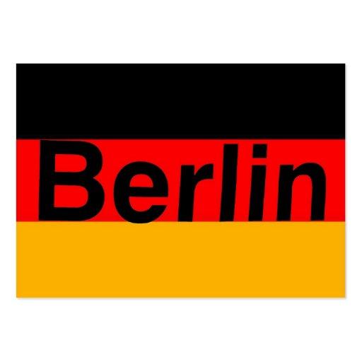 Berlin Logo in Black on German Flag Business Card Template