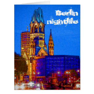 Berlin nightlife - Kaiser Wilhelm Memorial Church Big Greeting Card