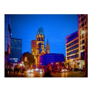 Berlin nightlife - Kaiser Wilhelm Memorial Church Postcard