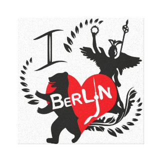 Berlin picture stretched canvas print