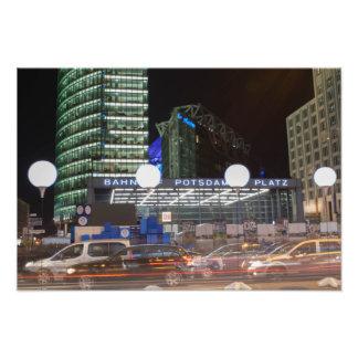Berlin Potsdamer place at night Photographic Print