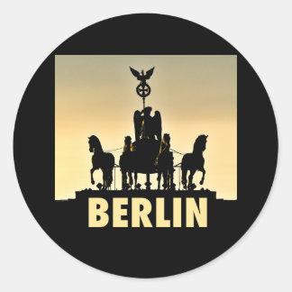 BERLIN Quadriga 002.1 Brandenburg Gate Classic Round Sticker