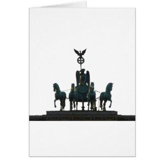 BERLIN Quadriga at Brandenburg Gate Card