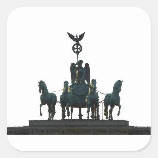 BERLIN Quadriga at Brandenburg Gate Square Sticker