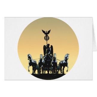 Berlin Quadriga Brandenburg Gate 002.1 rd Card