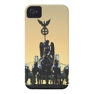 Berlin Quadriga Brandenburg Gate 002.1 rd iPhone 4 Case-Mate Cases