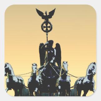 Berlin Quadriga Brandenburg Gate 002.1 rd Square Sticker