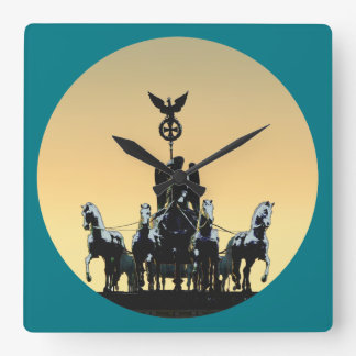 Berlin Quadriga Brandenburg Gate 02.2 rd Square Wall Clock