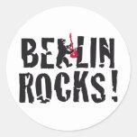Berlin rocks runder aufkleber