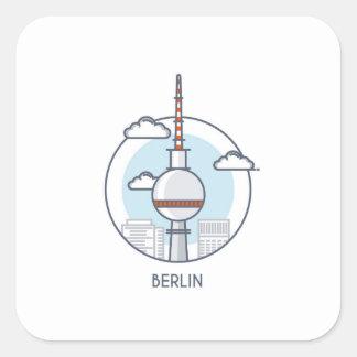 Berlin Square Sticker