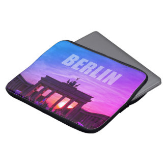 BERLIN, Sunset at the Brandenburg gate Laptop Sleeve