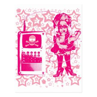 Berlin-Techno-Tusii doll pink Postcard