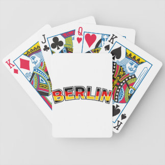 Berlin, text with Germany flag colors Bicycle Playing Cards