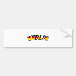 Berlin, text with Germany flag colors Bumper Sticker